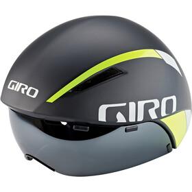 Giro Aerohead MIPS Casco, matte black fade/highlight yellow